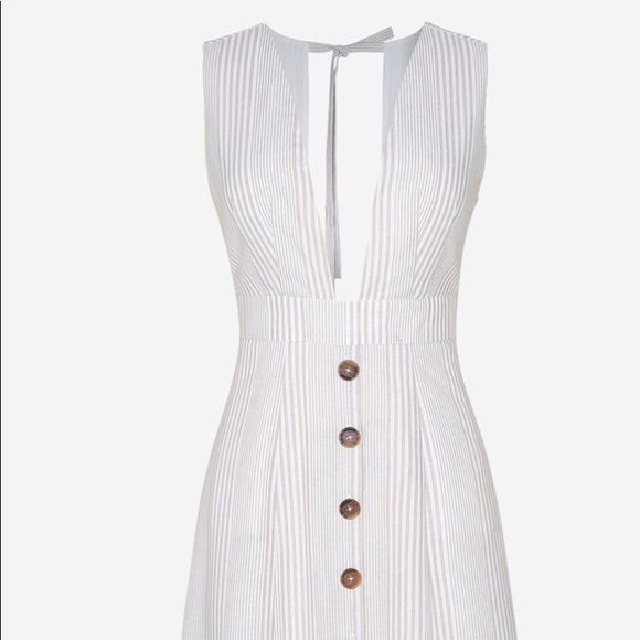 9716e1f55fc1 Mint Limit Dresses | Button Down Midi Dress In Apricot Stripe | Poshmark